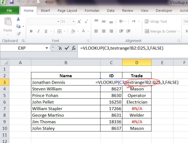 how to make a cell in excel stay constant